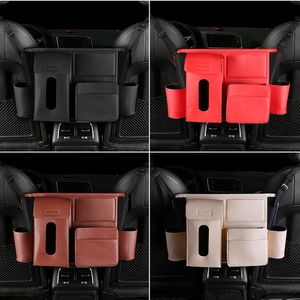 Image 4 - 1X רכב מושב אחסון ארגונית תיק אוניברסלי עור מפוצל תכליתי אחסון תיבת פנים Stowing לסדר אוטומטי ארגונית Box
