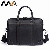 MVA Men Briefcase Male Totes Men's Bag man Genuine Leather Laptop Bag for Business Briefcases Men leather bags briefcases 9879