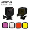 Gopro 4S 4 Session Accessories Diving Filter Yellow Red Purple Grey Underwater Dive Filtors Lens Protector for Go Pro 4session