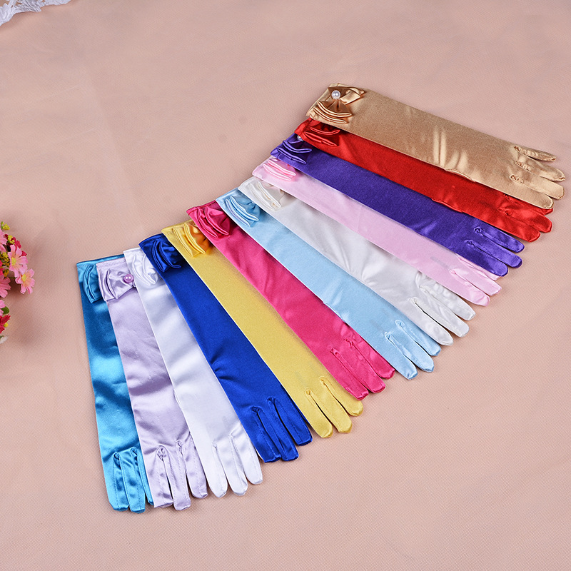 11 Colors Cartoon Girls Long Gloves Elsa Princess Girls Ladies Fancy Gloves Christmas Birthday Children Kids Gift Free Shipping