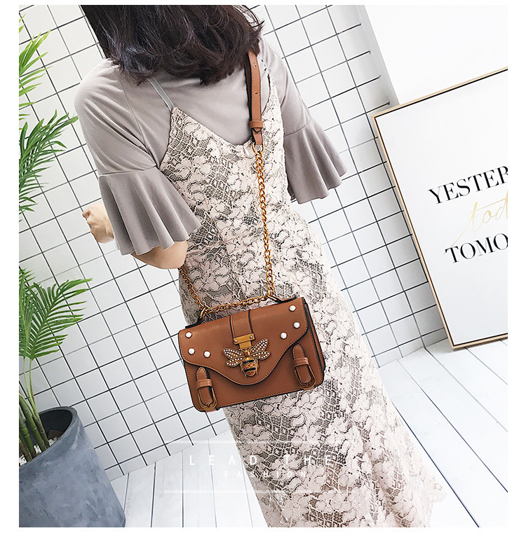BROWN Gucci Inspired Women HandBag Retro Bee Honeybee Shoulder Bag Vintage Crossbody Bag