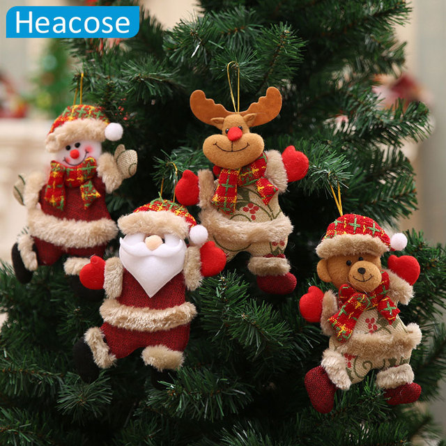 christmas tree decoration dancing santa claus snowman deer hanging ornaments toy christmas decorations for home new - Discount Christmas Decorations