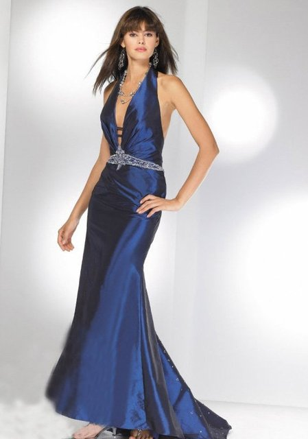dress/Party dress/Sexy/gown/girl/Bride/Bridesmaid(any size/color)157 2009 New style blue wedding