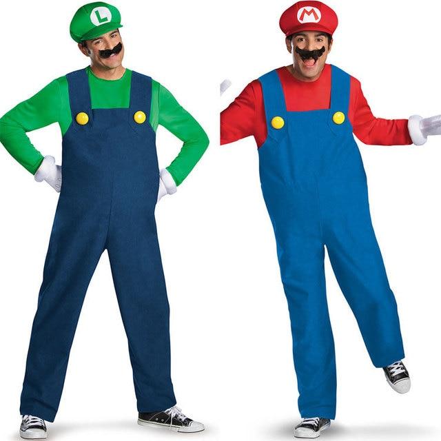 Mario Luigi Vestido De Lujo Plumber Workman Parejas De Disfraces De - Disfraz-de-halloween-para-hombre