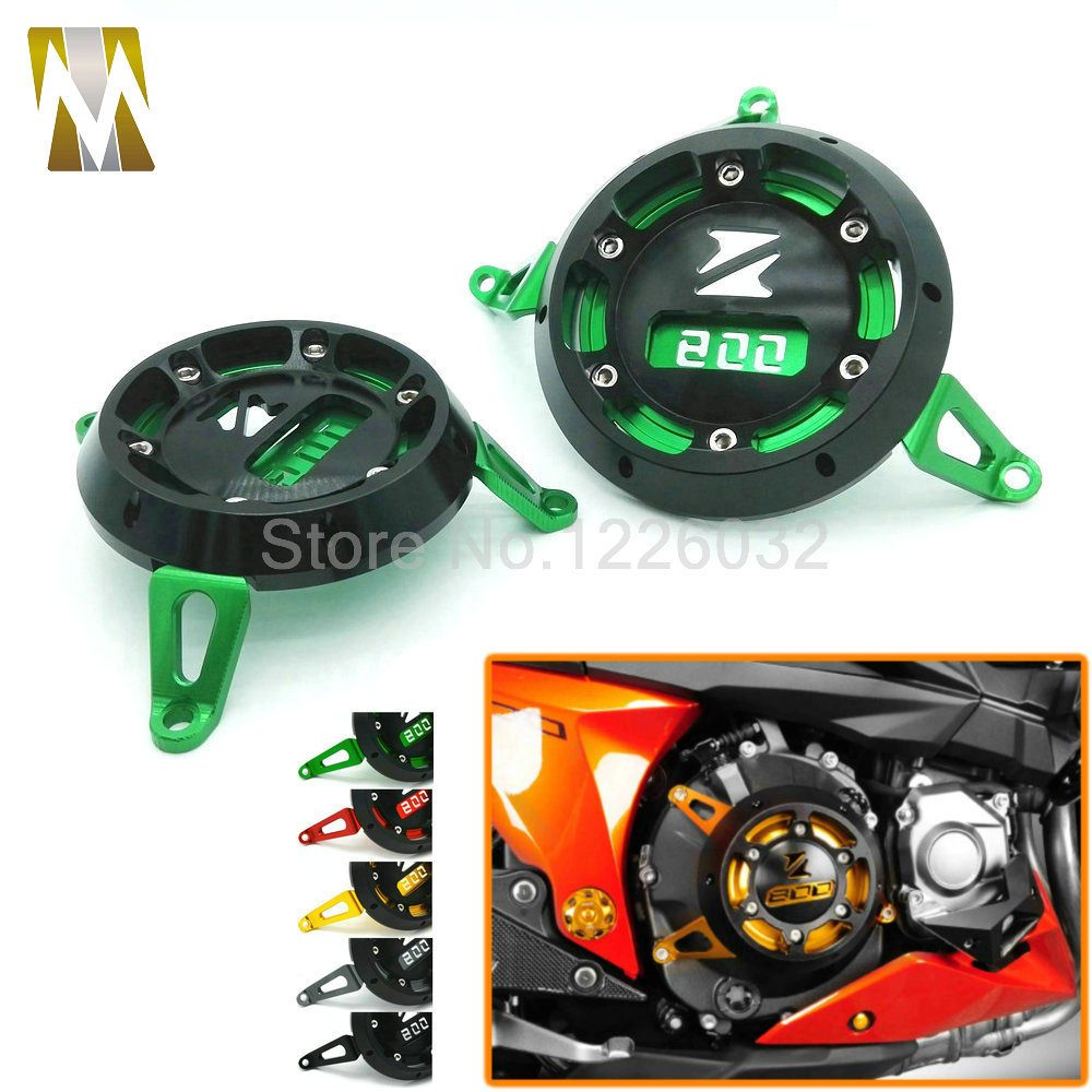 Black/Red/Golden/Green/Titanium Motorcycle CNC Aluminum Engine Stator Cover Engine Protective Cover For KAWASAKI Z800 2013-2015 ca ka002 bk 7 colors cnc aluminum motorcycle rear fork adjustment code black color chain adjuster spot for kawasaki z800