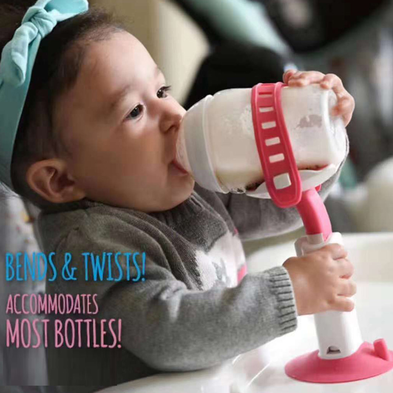 Baby Bottle Rack Free Hand Bottle Holder Feeder Bottles Rack Baby Self-Feeding Holder Drink Water Nursing Holder Support Clip