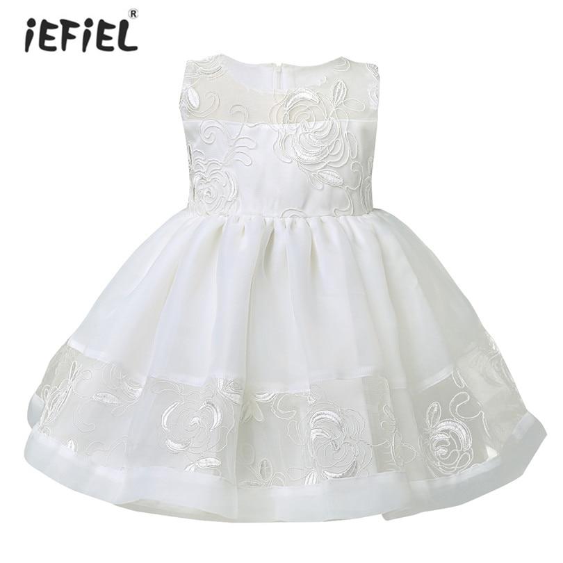 db75c051d Detalle Comentarios Preguntas sobre Blanco color cumpleaños Niñas Vestidos  bautizo infantil recién nacidos bautismo princesa bordado Vestidos en ...