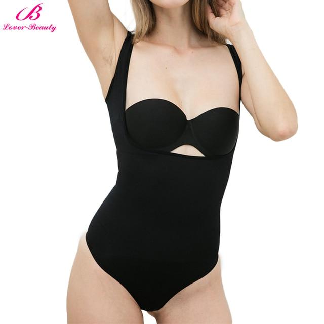 02e8f0d51c471 Lover-Beauty Sexy Shaper Women Underbust Lingerie Bodysuit Thong Tummy  Control Corset Slim Shapewear Breathable Full Body Shape