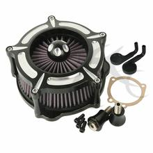 Motorcycle CNC Turbine Air Cleaner Contrast For Harley Sportster XL Iron 1200 883 91-18 Forty Eight 10-14 Iron 883 09-14 4 5 gal leather tank cover panel w bag for harley sportster xl 883 1200 iron forty eight seventy two motorcycle