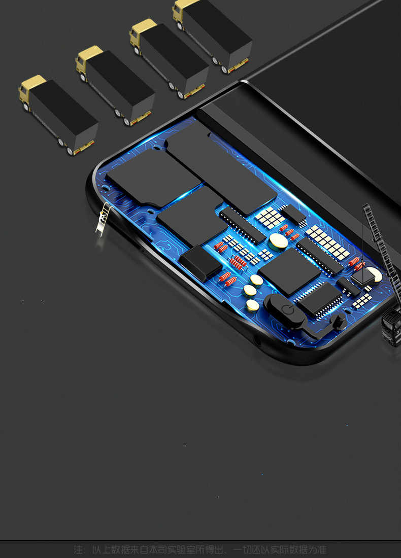 الانقراض 6800mAh استكشاف شاحن بطارية حالات ل شاومي Redmi نوت 7 قوة البنك غطاء البطارية الحال بالنسبة شاومي Redmi نوت 7 برو