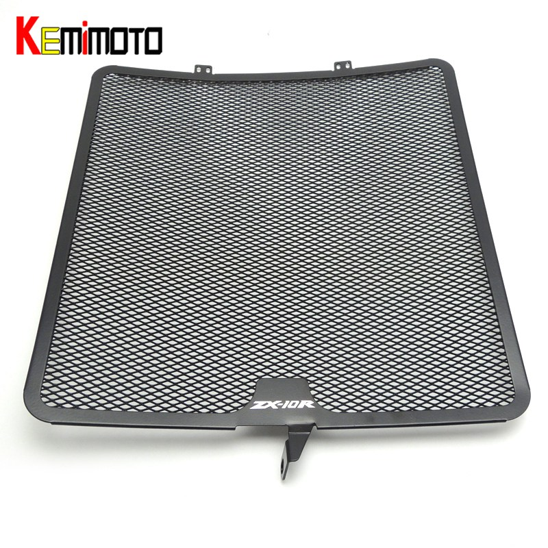 KEMiMOTO Radiator Guard Cover Grille Protector for KAWASAKI Ninja ZX-10R ZX 10R 2008 2009 2010 2011 2012 2013 2014 ZX10R for kawasaki zx 10r zx10 zx 10r 2011 2014 2012 2013 motorcycle accessories radiator grille guard cover fuel tank protection