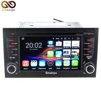 Android 7.1 2 GB RAM Auto dvd-speler Radio Voor Audi A4 2002-2008 Auto GPS Multimedia Navigatie Met Canbus WiFi 4G Radio Gratis kaart