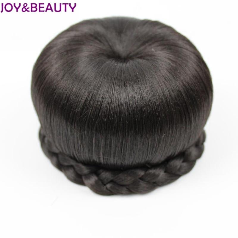 JOYampBEAUTY Hair Synthetic Donut Roller Hairpieces Natural Black Clip In Hair Bun Hair Chignon