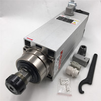 Шпиндель с ЧПУ  7 5 кВт ER32 Цанга воздушного охлаждения 220 В 380 В 18000 об/мин  высокоскоростной 4 подшипника для деревообрабатывающего станка с ЧП...