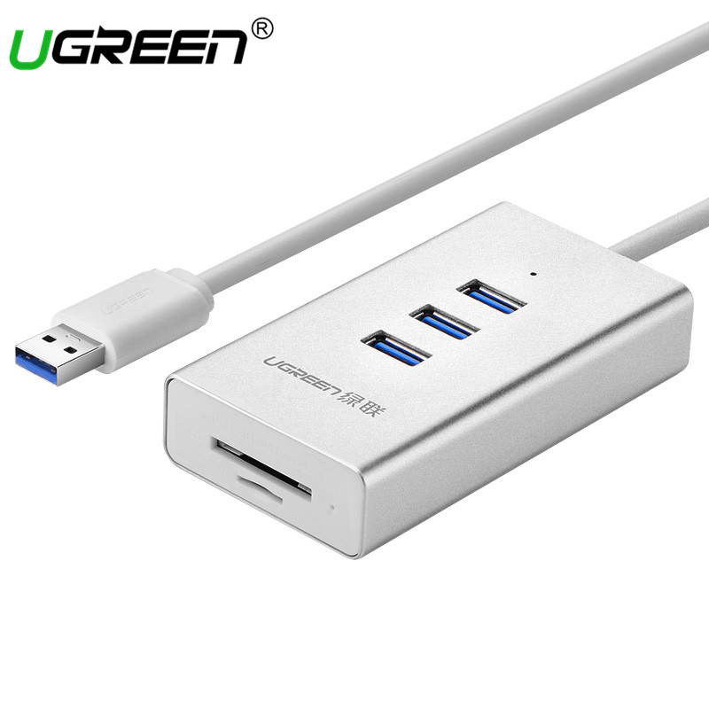 Ugreen USB 3.0 Card Reader with 3 Port USB HUB Micro SD TF Card Reader USB Splitter for Computer All in 1 Card Reader USB Hubs 668 usb 3 1 type c card reader