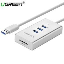 Хаба USB 3.0 Ugreen Card Reader с 3 Порты и разъёмы USB HUB Micro SD Card Reader USB разветвитель для компьютера все в 1 Card Reader USB концентраторы