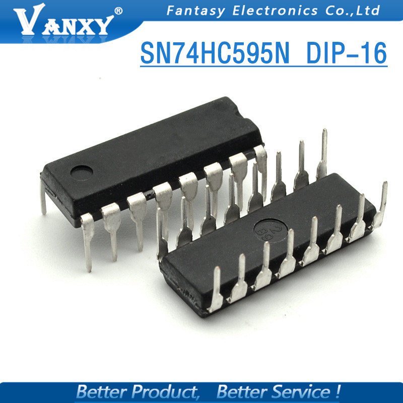 200pcs 74hc595 Sn74hc595n Dip Sn74hc595 Dip16 74hc595n New And Original Ic Fanta High Safety Active Components