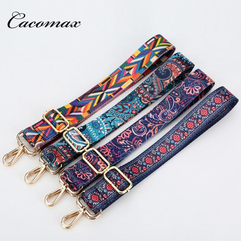 Nylon Colored Bags Straps Rainbow Belt Accessories Women Adjustable Shoulder Hanger Handbag Straps Decoration Handle Ornament E