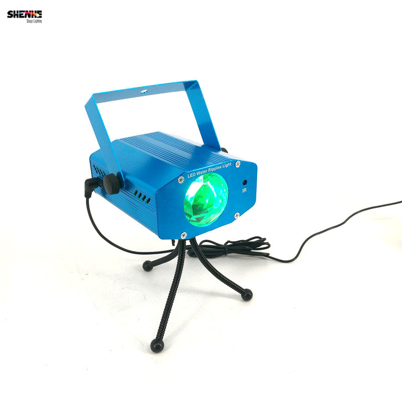 Mini LED Sound Control Remote RGB Water Wave Ripple Effect Stage Light Led Lamp Music Auto Projector Party DJ/Night Light keyshare dual bulb night vision led light kit for remote control drones