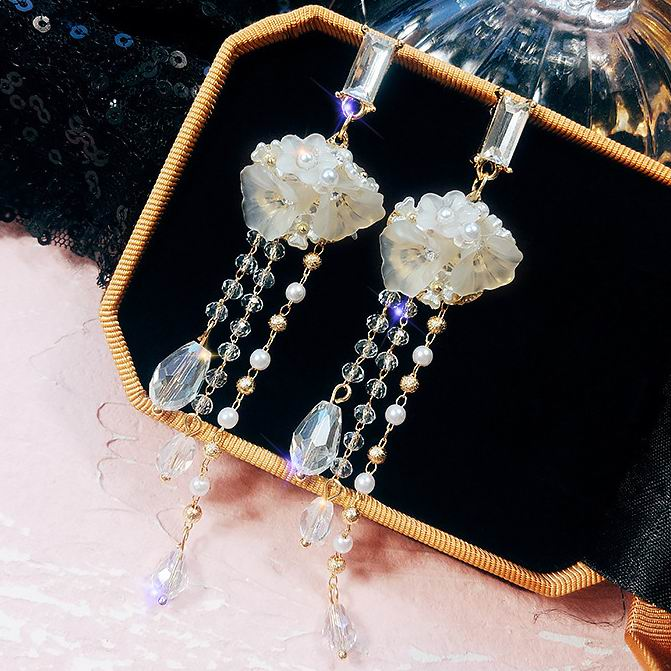 6d5094ff31 Купить Серьги | MENGJIQIAO 2018 New Korean Fashion Bijoux Clear ...