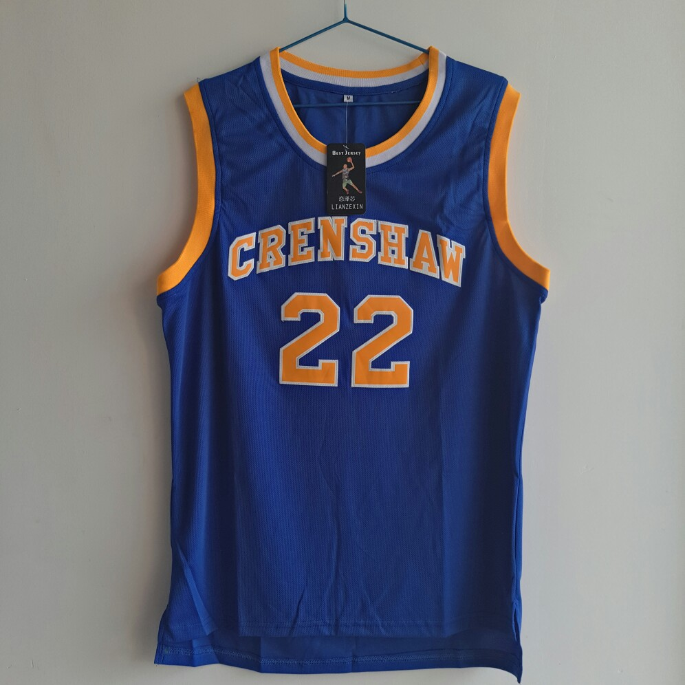 LIANZEXIN Quincy McCall Number 22 Jersey Movie Basketballs Crenshaw Jerseys High School Blue Basketball Jerseys For Sale 44 rev 30 44 pistol pete basketball jerseys