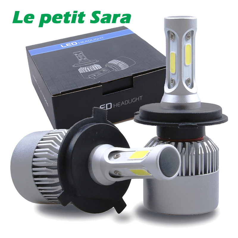 2pcs H4 H7 H11 H1 H13 H3 9004 9005 9006 9007 9012 COB LED Car Headlight Bulb Hi-Lo Beam 72W 8000LM 6500K Auto Headlamp 12v 24v бейдж durable 8216 19 click fold