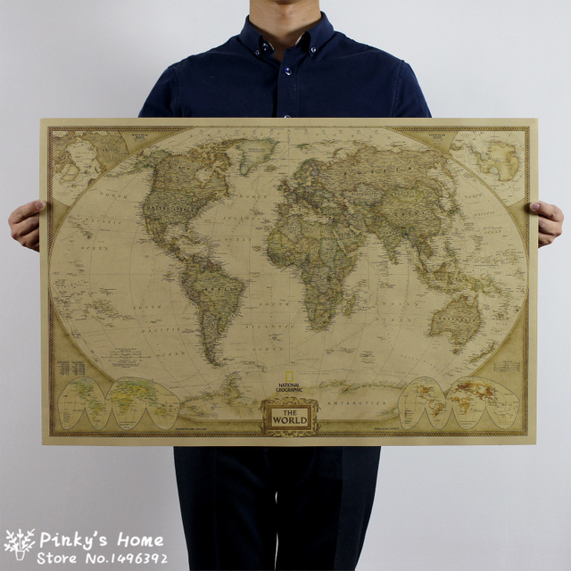 Aliexpress buy 72x465cm vintage world map travel home 72x465cm vintage world map travel home decoration detailed antique poster wall chart retro paper gumiabroncs Gallery