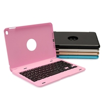 YUNAI Aluminium Ultra Slim Portable Wireless Bluetooth 3 0 Keyboard Case Cover Holder For IPad Mini