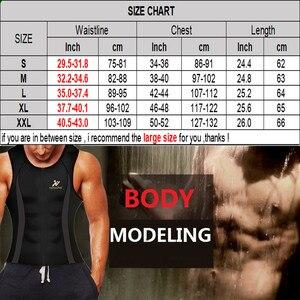 Image 5 - NINGMI Menเสื้อกั๊กSlimmingเอวเทรนเนอร์Tank Top Neoprene Slim Body ShaperชายออกกำลังกายรัดตัวCorset Shapewearสาย