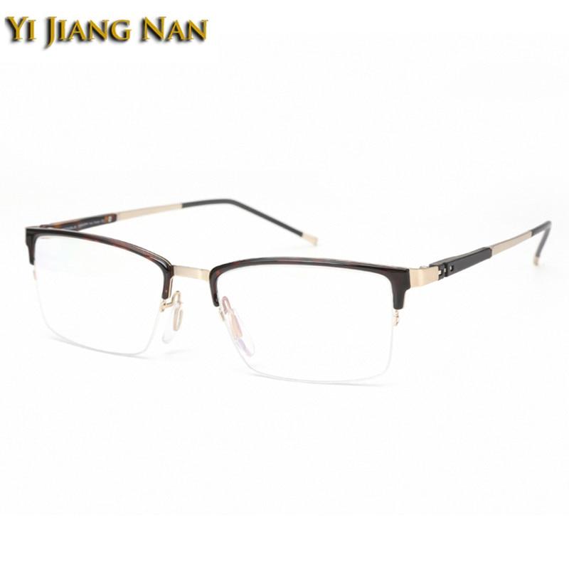 fceb669b7c Yi Jiang Nan Brand Fashion Young Men Fresh Stylish Eyeglasses Frames  Gentlemen Half Frame Optical Progressive Glasses Frames