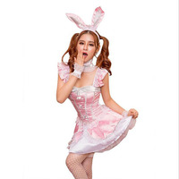 New pink bunny girl sexy lingerie sexy temptation playful bunny costume fun uniform game wear Cosplay dress