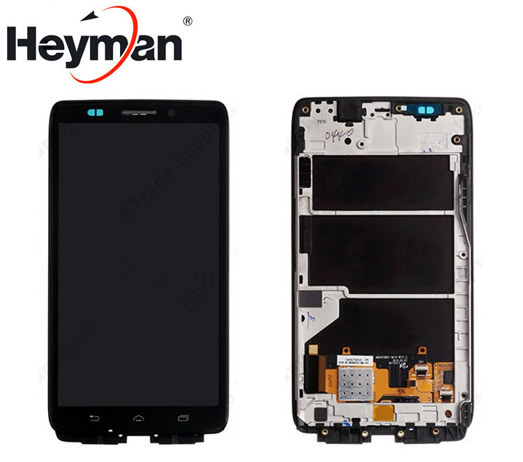 Heyman LCD For Motorola XT1080 Droid Ultra LCD Display with Touch Screen Digitizer Glass Replacement Free