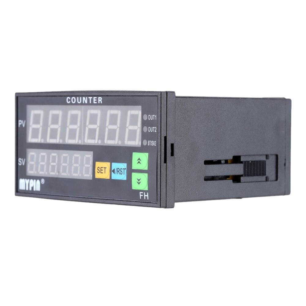 Compteur numérique à 6 chiffres 90-260 V AC/DC compteur de longueur électronique 1 sortie de relais préréglée compteur de doigt de personnes similaires