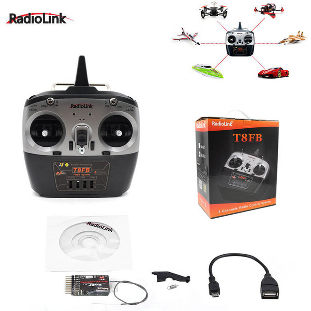 RadioLink T8FB 2.4GHz 8ch Transmitter R8ef receiver Remote Rontrol  TX&RX for RC Helicopter RC Drones aircraft quadcopter