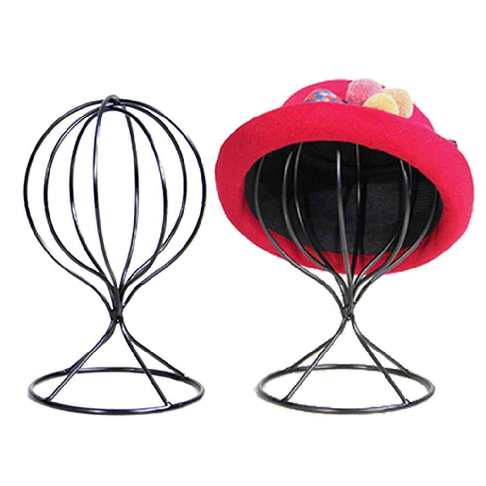 Hollow Balloon Metal Wig Hairpiece Stand Tabletop Decorative Hat Cap Holder New