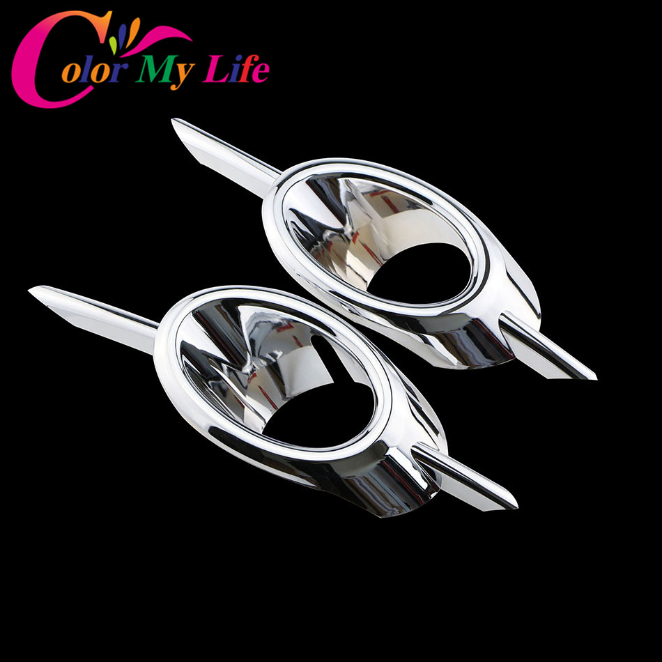 2Pcs/Set ABS Chrome Car Front Fog Lamps Cover Fog Lights Covers Fog Light Lamp Sticker For Chevrolet Cruze 2009 - 2016 Car Parts car front fog lamp cover rear tail fog lamp cover trim abs chrome fit for citroen c4l 2013 2014 2pcs per set