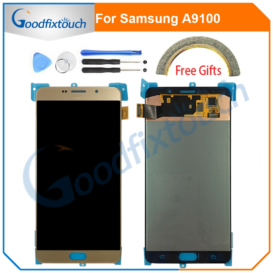 6.0 Inch Display For <font><b>Samsung</b></font> <font><b>Galaxy</b></font> <font><b>A9</b></font> 2016 <font><b>LCD</b></font> <font><b>Screen</b></font> Touch Digitizer 2016 <font><b>A9</b></font> Pro A910 A9100 <font><b>LCD</b></font> Display Replacement Parts image