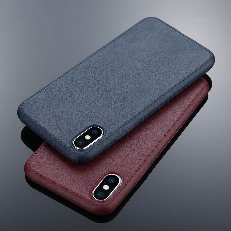 Luxury PU Leather Style Pattern Phone Case For iPhone X 10 8 Plus Soft TPU Silicon Shockproof Back Cover For iPhone 6 6S 7 Plus