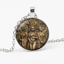 NEW Vintage Statue of Triple Moon Goddess Necklace Tree Life Witchcraft Pentagram Magic Pendant Amulet Female Gift necklace