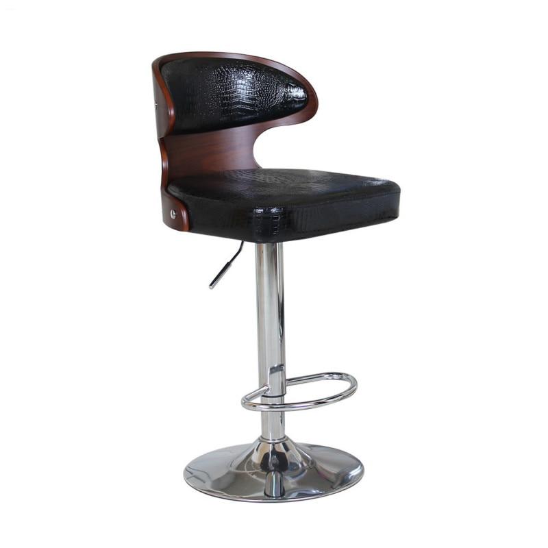 Bar Chair Nordic Rotating Bar Stool Solid Wood Backrest Cash Register Front Desk High Stool Tabouret De Bar Cadeira