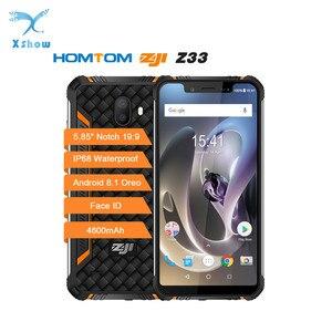 "Image 1 - Homtom zoji z33 mt6739, smartphone à prova d água de ip68, 1.3ghz, 3gb, 32gb, 4600mah, tela 5.85 "", dual sim, android celular ota otg face id, 8.1"