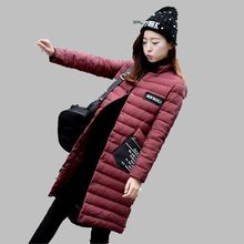 Fashion Casual Middle-long Down Jacket 2016 Autumn Winter New Women Coat Elegant Temperament Warm Women Down Jacket G1898