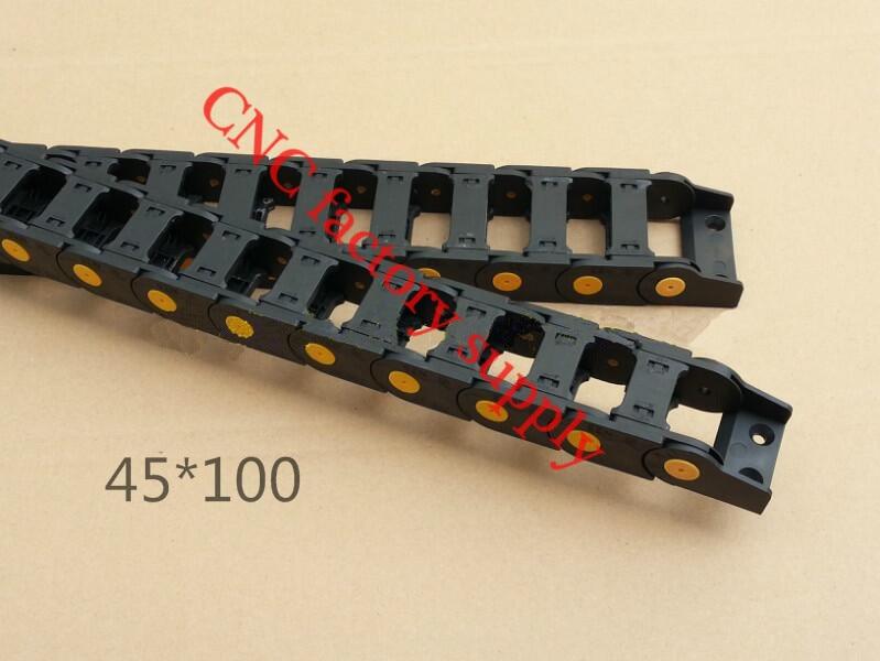 Бесплатная доставка 1М 45*100 мм Пластиковые кабель перетащить цепи для станков с ЧПУ,Внутренний диаметр отверстия крышки,ПА66