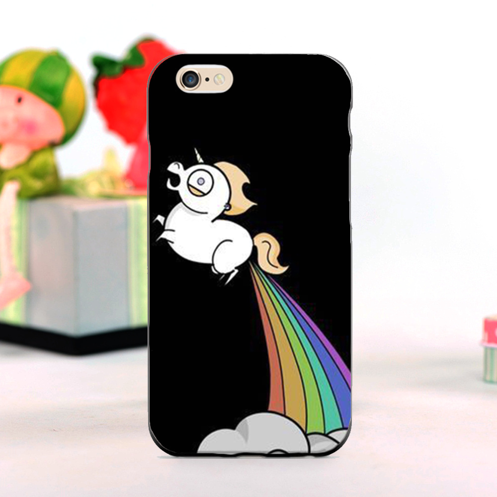 Funny Cute Little Unicorn Horse mobile phone Cases for iphone 5s 4s 5c 6 6plus and Case for