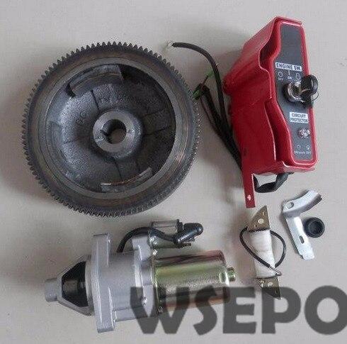Chongqing Qualität! elektrische Start Rebuild Kit (inkl. fywheel/charing spule/start motor/schaltkasten) für 188F/GX390 Gasmotoren