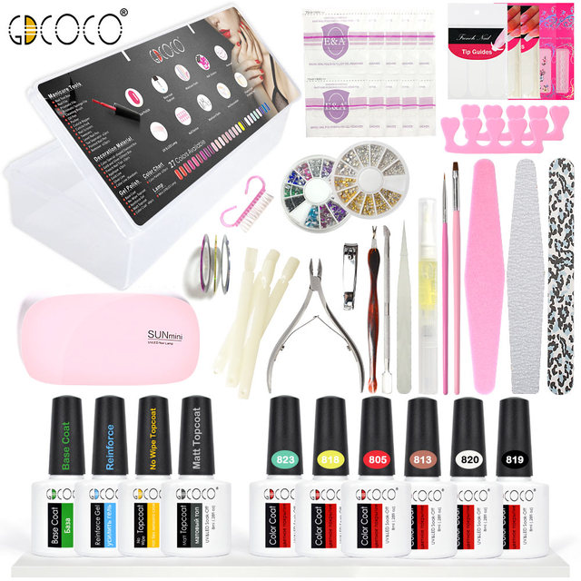 Aliexpress online shopping for electronics fashion home 70321gdcoco nail art design canni manicure diy gel nail polish kit prinsesfo Images