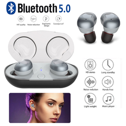 Earphones TWS Headset with Charging Box Wireless Bluetooth Earphone Watches Fashion In-Ear Portable Microphone