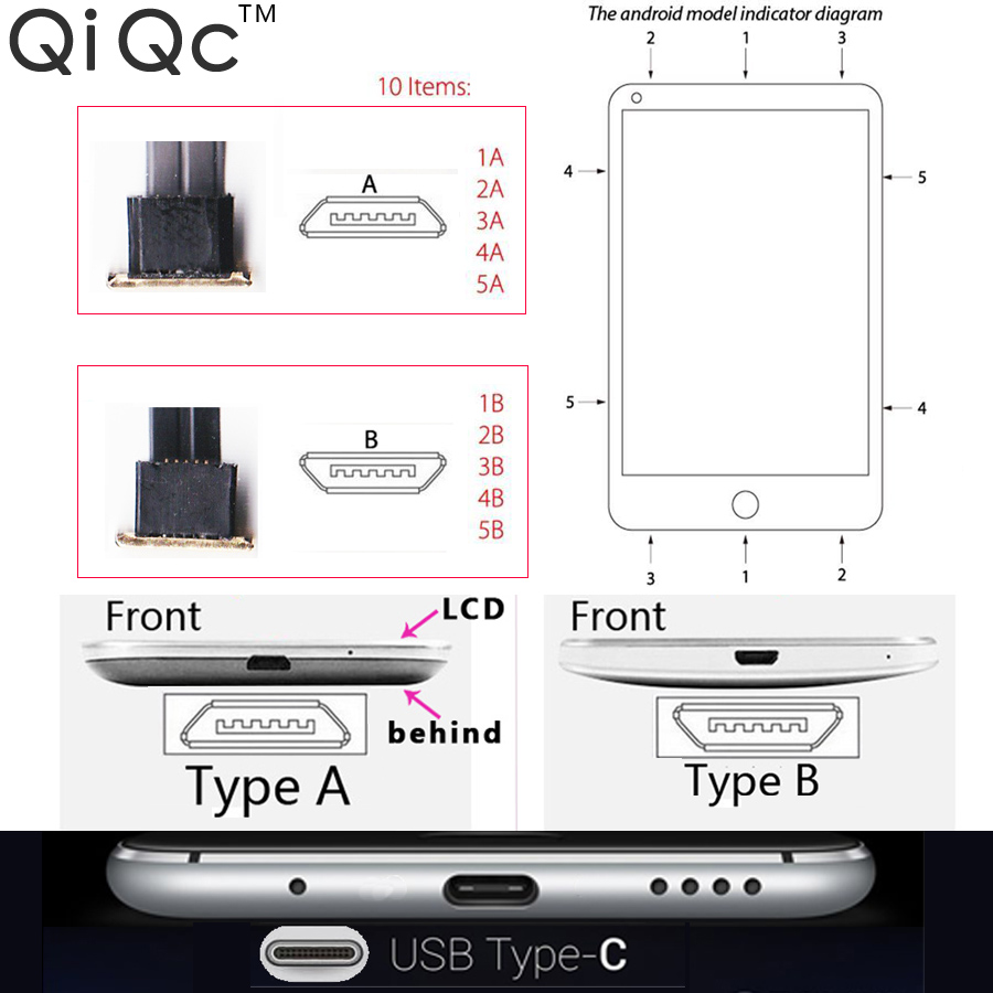 QiQc 2 0 Wireless Charger Receiver Charging Adapter Receptor TI Chip For All Phone Micro USB V8 in Mobile Phone Chargers from Cellphones Telecommunications