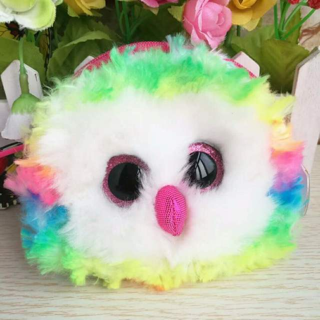 placeholder New 2018 TY Gear Beanie Boos OWEN Multi Color Owl Wristlet Coin  Purse with Strap Plush 9ee80df756d9