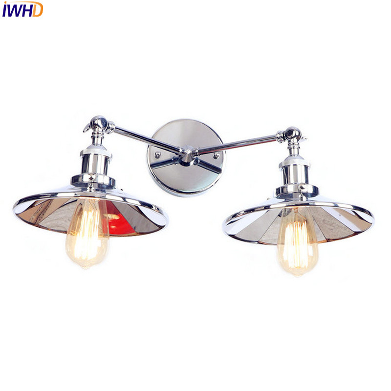 IWHD Sliver Color Industrial LED Wall Lights For Home Lighting Adjustable Arm Vintage Wall Lamps Sconces Stair Light WandlampIWHD Sliver Color Industrial LED Wall Lights For Home Lighting Adjustable Arm Vintage Wall Lamps Sconces Stair Light Wandlamp